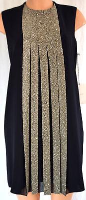 d Swarovski Kristall Falten Shift Hartzinn Kleid Size 14 (Zinn Kleid)