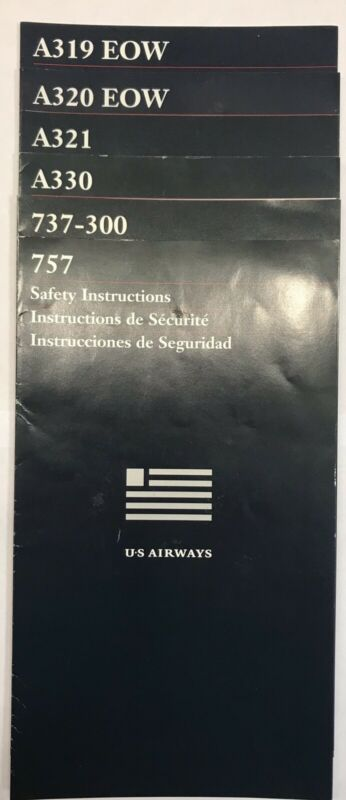 US Airways Airline Safety Cards