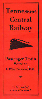 Tennessee Central RY TCRY Public Timetable December 1949