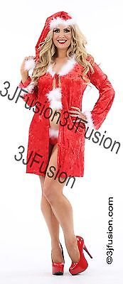 Adult 3 Piece Sexy Santa Baby Fancy Dress Lingerie Christmas Outfit ](Adult Baby Lingerie)