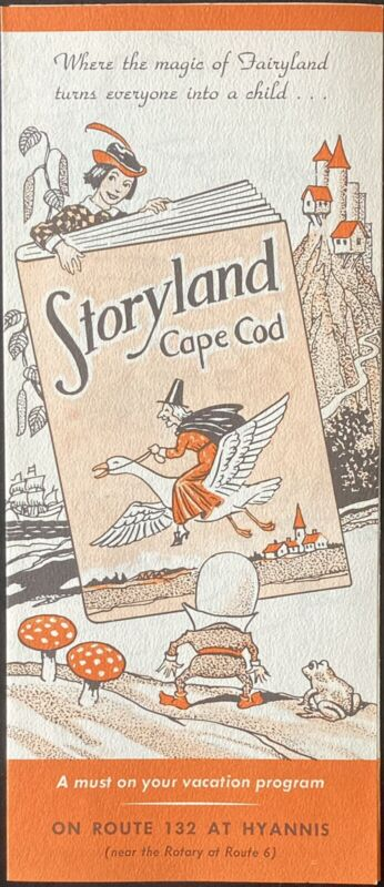 C.1955 STORYLAND CAPE COD, MASS. THEME PARK FOLDOUT BROCHURE RT.132 HYANNIS