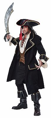 Black Beard Deluxe Pirate Captain Hook  Jack Sparrow Adult Men Costume - Deluxe Captain Hook Costume