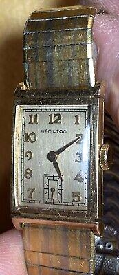 Vintage 1941 Hamilton Essex -17 Jewel Cal. 980 10k Gold Filled-For Men & Women
