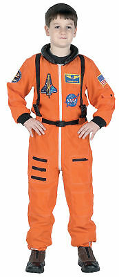 Nasa Jr Astronaut Anzug Orange Kinder Kostüm Raum - Astronaut Kind Orange Kostüme