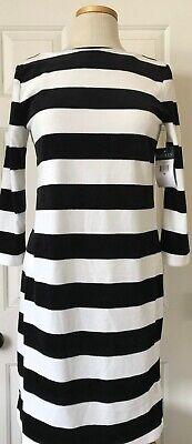 $125 NWT Womens Lauren Ralph Lauren Striped Long Sleeve Velvet Straight Dress M