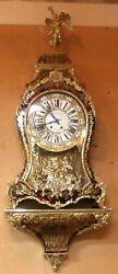 ANTIQUE MID 19TH C LARGE FRENCH BOULLE BRACKET CLOCK SIGNED LIEUTARD a PARIS