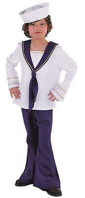 Matrosen Mariene Kostüm Kinder Jungen Mädchen Matrosenkostüm Herren Seemann (Kinder Matrosen Kostüm)