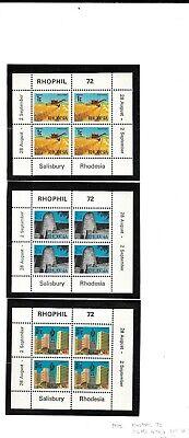 Rhodesia 1972 Rhophil min sheets MNH