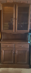 FREE wooden hutch with glass doors Northcote Darebin Area Preview