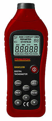 Dawson Dam110b Digital Photo Non-contact Tachometer Tester
