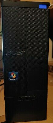 ACER ASPIRE AX1430 DESKTOP PC AMD E-450 1.65GHz 4GB 500GB HD Radeon Windows 7