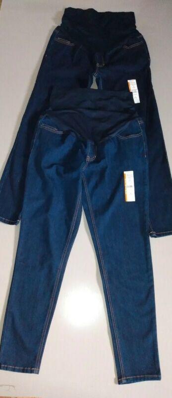 2 Lot Time And Tru Denim Medium Maternity Stretchy Jeans