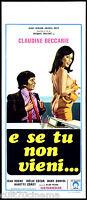 E Se Tu Non Vieni? Locandina Cinema Erotico 1976 Et Si Tu Ne Veux Pas Affiche -  - ebay.it