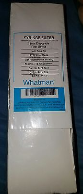 Whatman Ptfe Puradisc 6775-1304 13mm Disposable Syringe Filter Device 50 Ct