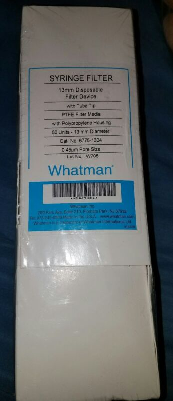 Whatman PTFE Puradisc (6775-1304) 13mm Disposable Syringe Filter Device  50 ct