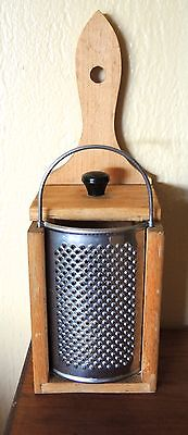 Vintage Cheese Grater Wood Box Pull Tray Made In England
