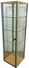Robust glass display cabinet Tempe Marrickville Area Preview