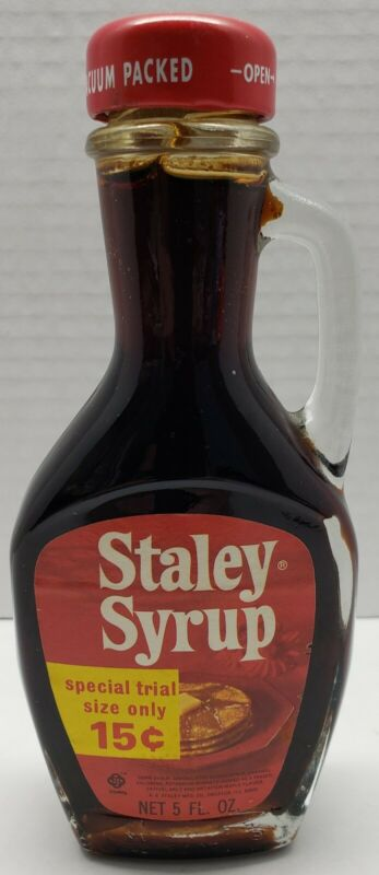 VINTAGE STALEY SYRUP NEVER OPENED GREAT CONDITION A.E. STALEY DECATUR ILLINOIS