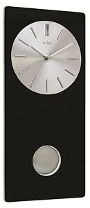 Acctim-Basilea-Contemporary-Design-Metal-Dial-Black-Glass-Pendulum-Clock
