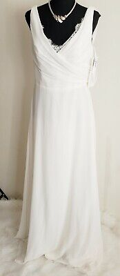 White Occasion Dresses (Hayley Paige Occasions NEW White Womens Size 14 Dress **ON)