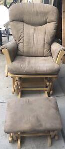 Glider Rocking Chair with Ottoman