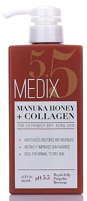 Medix 5.5 Manuka Honey + Collagen For Dry Aging Skin Cream 15 Fl Oz (444mL)