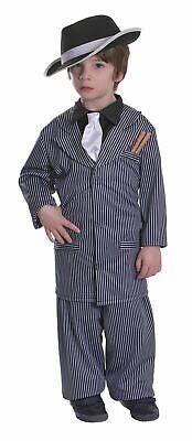 Boys 1920s Gangster Fancy Dress Costume Mafia Mob Capone Book Day