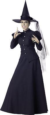 Böse Hexe Erwachsene Damen Kostüm Abendkleid Zauberer von oz Elite Sammlung ()