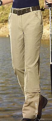Trekkinghose Trekking Hose funktionelle Hosen Outdoor Damen S / M / L  beige