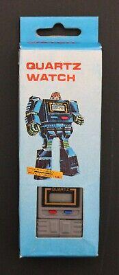 1980's Unbranded TAKARA-LIKE KRONOFORM TRANSFORMERS GRAY QUARTZ WATCH brand new