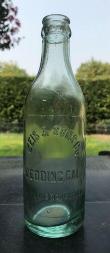 ZEIS & SONS CO. REDDING, CALIFORNIA NEAT CROWN TOP 1916 SODA BOTTLE