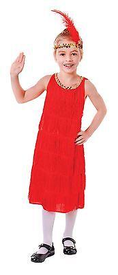 Flapper-Kleid. Rot, klein, Fancy Dress Kostüm, Kinder Buch Woche - Fancy Flapper Kind Kostüm