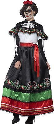 Damen Tag der Toten Senorita Damenkostüm Imitat Halloween Outfit