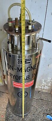 Cryofab Cryogenic Csm-85 Superconducting Magnet Dewar Stainless Tank Laboratory