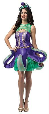 Sea Creature Costumes (WOMENS OCEAN CREATURE ANIMAL OCTOPUS DRESS COSTUME)