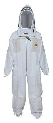 Beekeeping Suit Ultra Ventilated With Removable Hat Free Carrying Bag Large