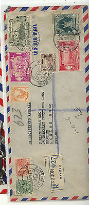 Burma  nice registered cover  to  US   1951    KL0512