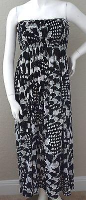 Yummy Plus Abstract Animal Print Stretch Smocked Tube Maxi Sun Dress 1X 2X New! Animal Print Tube Dress
