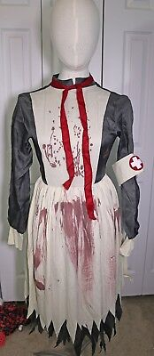 Spirit Halloween NURSE MERCY Adult Halloween Costume sz Small Dress & Hat Spooky](Nurse Mercy Costume)