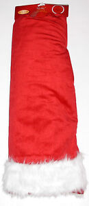 Christmas Tree Skirt 56 inches, Red with White, New w/Tag!