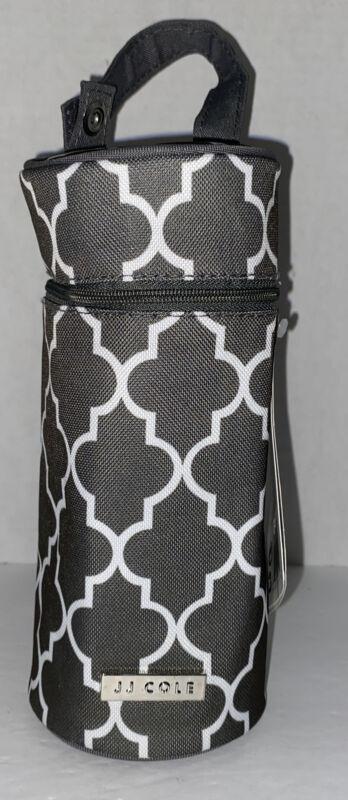 JJ COLE Baby Insulated Bottle Holder Pod Gray & White NWT