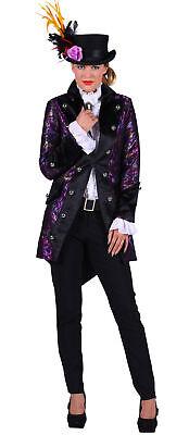 Excl. Frack lila Damen violette edle Jacke Glitter Gehrock Zauberer Bühne - Lila Frack Kostüm