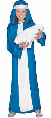 Girls Childs Kids Mary Nativity Xmas Play Christmas - Mary Nativity Play Costume