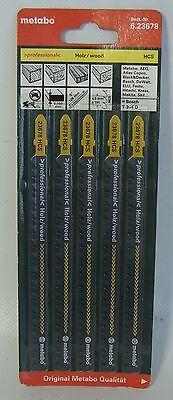 Stichsägeblätter 5 Metabo für Holz 126 / 4,0 mm Professional  geschliffen