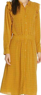 9C71 Size Small NEW Women's Joie Redson Print Midi Dress- in Yellow