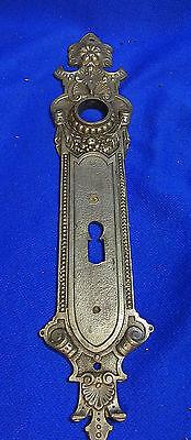 1 Art Nouveau Metal Keyhole Escutcheon #BQ3
