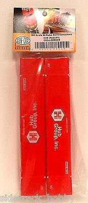 Ho Scale Con Cor 088029 Hub Group Red 53 Hi Cube Containers 2 Pack