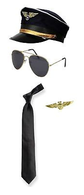 Pilot Costume Captain Wingman Military Uniform Accessories Fancy Dress  (Military Pilot Kostüm)