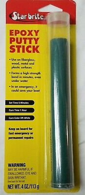 Epoxy Putty Stick 4 Oz. Underwater Repairs Fiberglass Wood Metal Plastic