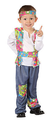 Toddler Hippy Boy Fancy Dress Costume 1970S Flower - Austin Powers Outfits